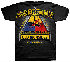 army 1st armored division old ironsides t shirt apparel