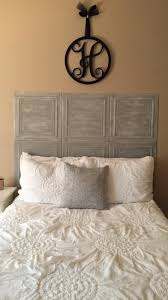 diy headboard made from styrofoam ceiling tiles painted