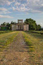 Neoclassical House Ancient Italian Neoclassical House Inside Park And Blue Sky With