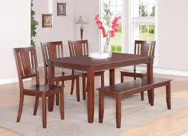 dining room decoration with rectangular cherry wood kitchen tables