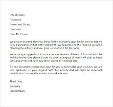 Appeal Letter for Financial Aid