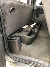 Rear Seat Storage Organizer - Mounting - Dodge Cummins Diesel Forum 2016 Custom Under Seat Storage Rear Ford F150 Forum Community Gm 23183674 Underseat Box For 2014 2015 Silverado Or Sierra Truck Back Vehicles Contractor Talk Save Up To 12000 Off Allnew 2019 Ram 1500 Seat Storage Organizer Mounting Dodge Cummins Diesel Used Chevrolet Sale Types Of Diamond Plate Under Pinterest Compare Replacement Subwoofer Vs Duha Etrailercom Husky Gearbox Interior Cars Gallery Duha Cab Storage Pts Trucks Chevy Youtube