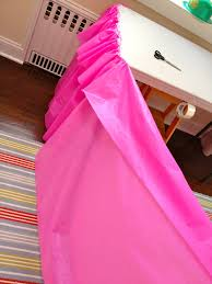 Foil Fringe Curtain Dollar Tree by How To Make A Plastic Table Cloth Look Like A Ruffled Table Skirt