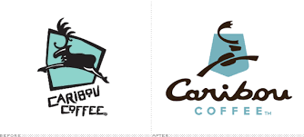 Caribou Coffee Logo Before And After