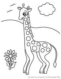 Giraffe Coloring Pages Just A Part Of The Animal Friends Range At Kids Games Central