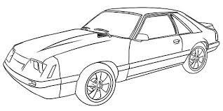 Coloring Pages Of Mustangs