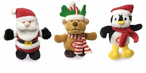 Cuddle Barn Christmas Ornament Squeezers 3 Musical Plush Toy 3 Piece