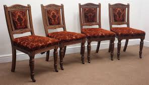 Antique Walnut Dining Room Table And Chairs Set Black Good ...