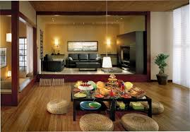 Zen Living Room Colors Ideas With Shared Dining Rooms