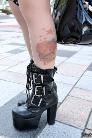 tattoo tights u0026 demonia boots u2013 tokyo fashion news