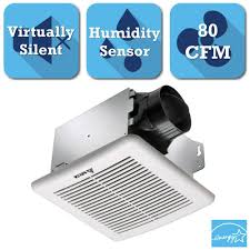 Install Bathroom Vent No Attic Access by Nutone Invent Series 80 Cfm Ceiling Exhaust Bath Fan With Light