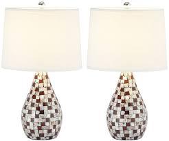 Laser Cut Lamp Plans by Amazon Com Safavieh Lighting Collection Lauralie Cream Capiz
