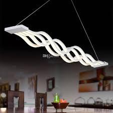 großhandel moderne kreative welle pendelleuchte led welle hängele für esszimmer wohnzimmer zxl1012 220 51 auf de dhgate dhgate