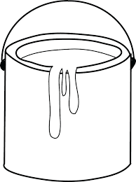 Paint Can Coloring Page 7442