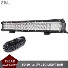 froad 5D 210W 20 LED Light Bar Headlight Car SUV Truck Pickup