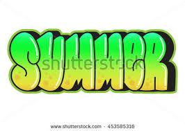 Graffiti Summer Word Street Art Spray Paint