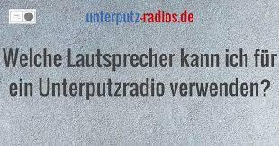 welche lautsprecher kann ich für ein unterputzradio