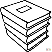 Click The A Pile Of Books Coloring