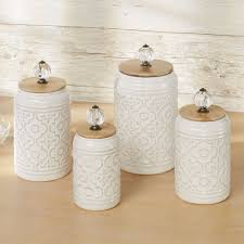 Ceramic Kitchen Canister Sets Bria Ivory Ceramic Kitchen Canister Set Of 4