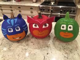Mackenzie Childs Painted Pumpkins by Pj Masks Halloween Pumpkins My Girls Love Pj Masks So I Decided