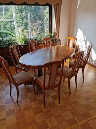 esszimmer tisch mit 8 stühlen nichtraucher haushalt top zustand