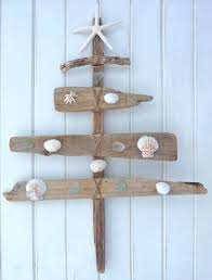 Driftwood Christmas Trees Cornwall by Rustic Driftwood Christmas Tree Seaglass Shells Starfish