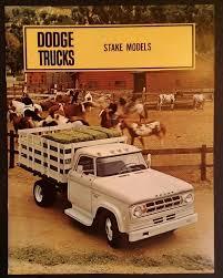 100 67 Dodge Truck ORIGINAL 19 DODGE Stake Sales Brochure Rare VHTF Nice