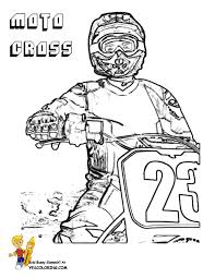 Rough Rider Dirt Bike Coloring Pages