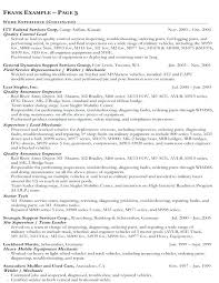 Government Resume Format Examples Example Of Federal Employee