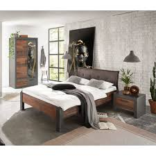 lomadox jugendzimmer set berlin s 61 sparset 3 tlg schlafzimmer set 3 tlg in matera anthrazit grau mit mix dekor im industrial look