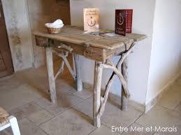 bureau 1m bureau en bois flotté entre mer et marais créations en bois flotté