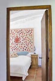 Bedroom Design With Wall Interior At Spanish Country House Rustic Style And Romantic Atmosphere