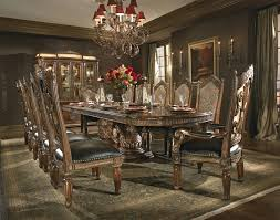 Elegant Dining Room Decoration With Aico Tables Fantastic Image Of Luxury