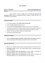 Resumewith7monthsinternshipexperianceinjava Lva1 App6891 Thumbnail Java Developer Resume Incredible 1 Years Experience Core 2