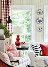 Red Country French Living Rooms by Stars And Stripes In The Sun Room How To Decorate With Red White