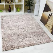 wohnzimmer teppich rautenmuster braun beige 3d optik tt022 vimoda homestyle