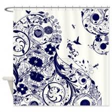 Black And White Flower Shower Curtain by Makanahele Com Category White Shower Curtains