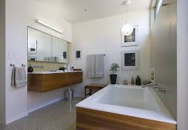 View In Gallery Modern Bathroom With Seamless Terrazzo Tile