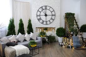 weihnachtsdeko idee wohnzimmer mit geschmückten