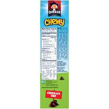 QuakerR Chewy Chocolate Chip Granola Bars 18 084 Oz Bars