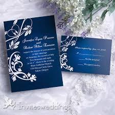 Charming Gradient Blue Wedding Invitation IWI073