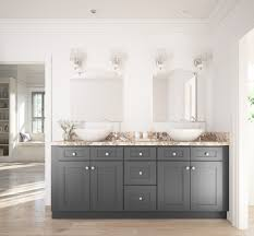 Cwp New River Cabinets by Grey Shaker Ready To Assemble Bathroom Vanities Bathroom
