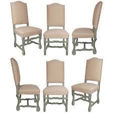 Set Of Six French Antique Louis XIV Style Dining Chairs