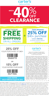 Pinned August 7th: 15-25% Off Everything + 40% Off Clearance ... Pinned November 6th 50 Off Everything 25 40 At Carters Coupons Shopping Deals Promo Codes January 20 Miele Discount Coupons Big Dee Tack Coupon Code Discount Craftsman Lighting For Incporate Com Moen Codes Free Shipping Child Of Mine Carters How To Find Use When Online Cdf Home Facebook Google Shutterfly Baby Promos By Couponat Android Smart Promo Philippines Superbiiz Reddit 2018 Lucas Oil
