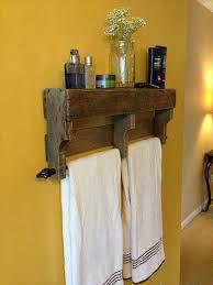 10 DIY Wood Pallet Shelf Ideas Towel RackRustic