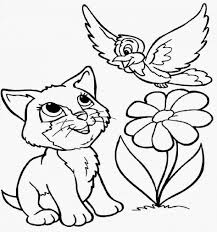 Puppy And Kitten Coloring Pages Download Kittens Online