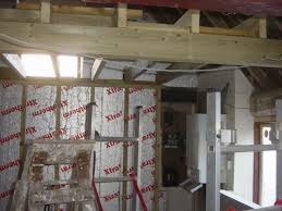 Insulating A Vaulted Ceiling Uk by Building A Timber Frame To Support The Barn Insulation Euula