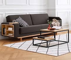 canap lit avec rangement canapé lit à ressorts avec espace de rangement 349970
