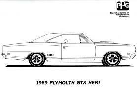 Muscle Car Coloring Book Pages Download Print Free
