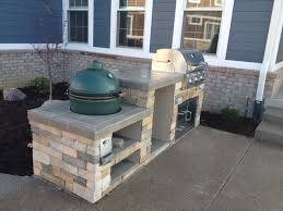 Big Green Egg Outdoor Kitchen Plans Cozy Pinkbungalow Home Decorating Ideas